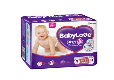 BabyLove Cosifit Crawler Nappies 6-11kg BabyLove