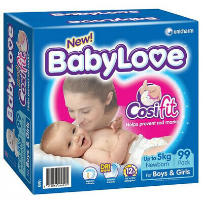 BabyLove Cosifit Jumbo Newborn Nappies Up To 5kg 99 Pack