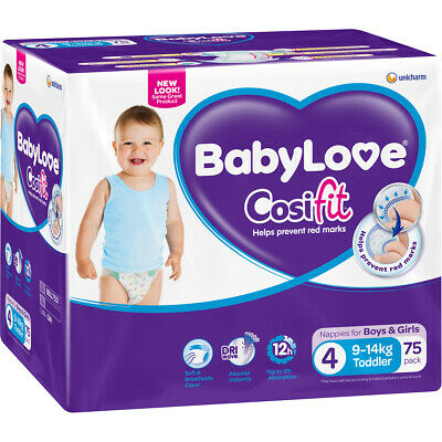 BabyLove Cosifit Jumbo Toddler Nappies 9-14kg 75 Pack