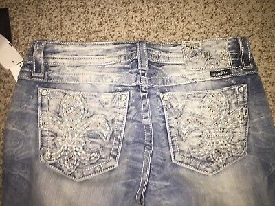 New Miss Me Boot Cut Women's Blue Jeans Sz 31 !! Hard to find! JE8550BL