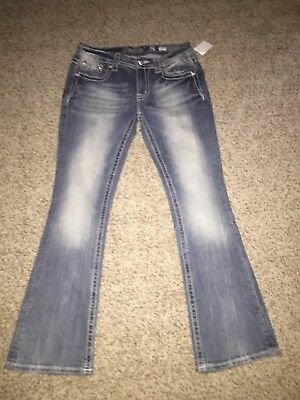 Miss Me Easy Boot jeans size 28 (fit 29)  - NWT -  peak-a-boo pockets JE8556EL