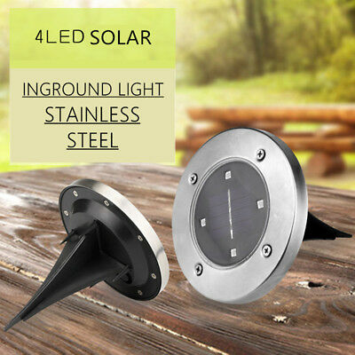 6x Solar Power Light Buried Lamp Garden Inground LED Waterproof Road Stud Lights