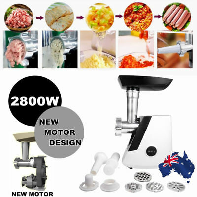 Commercial/Home Electric Butcher Fish 2800W Meat Mincing Machine Mincer Grinder