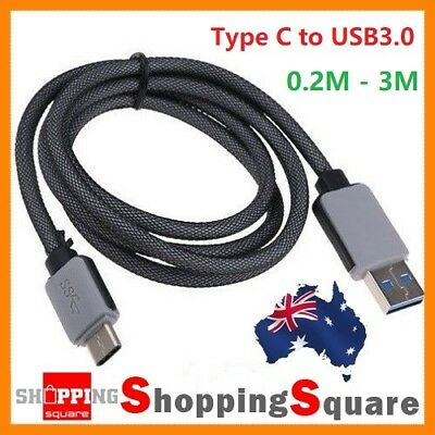 0.2-3M Braided USB3.1 Type C USB-C to USB3.0 Male Data Sync Fast Charging Cable