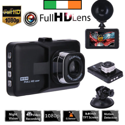 "3"" Dual Lens Car DVR Camera Video Recorder HD 1080P Dash Cam  G-Sensor"