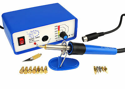Multi Heat Pyrography Woodburning Kit with 14 Tips. M0054
