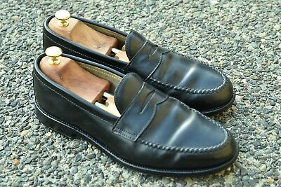 *ALDEN NEW ENGLAND* LHS Black Horween SHELL CORDOVAN Penny Loafers 10 D USA