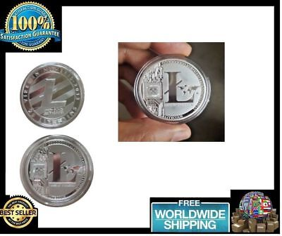 OEM Silver Plated Litecoin Coins Vires in Numeris Commemorative Coin Collection