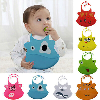 Waterproof Silicone Bib Feeding Stereo Pick Rice Pocket Baby Saliva Towel Aprons