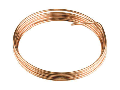 Cooksongold Craft Work Full Annealed Round Copper Wire, 0.3mm-2mm, 3m-15m Reels