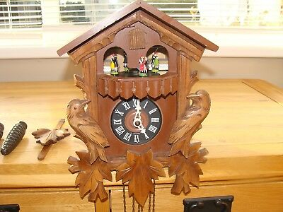 Hubert Herr West Germany  Cuckoo Clock ,3 Weights, Musical & Dance