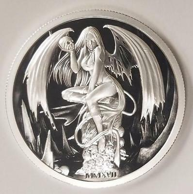2017 Temptation Of The Succubus 2 oz .999 Silver Capsuled Proof Round Coin W/COA