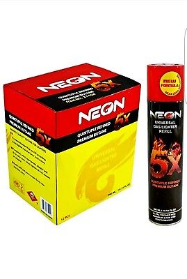 1 can neon 5x  ref Gas Refill Butane Fluid Fuel Ultra Refined 300ml  10.14 Oz