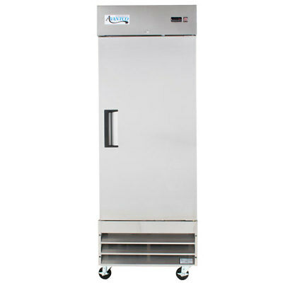 """Reach-In Refrigerator 29"""" Solid Door Avantco SS-1R-HC Stainless Commercial Steel"""
