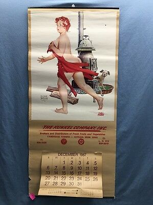 1987 Advertisement Pinup Calendar ~HILDA ~ By Duane Buyers