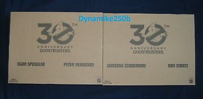 Ghostbusters 30th Anniversary 2 Packs Set of 4 Egon Peter Ray Winston Mattel New