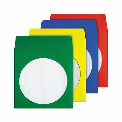 Quality Park CD/DVD Envelopes Assorted Colors Pack of 50 (68905)
