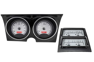 Dakota Digital 68 Camaro w/ CNSL Gauges  Silver Face~Red Display VHX-68C-CAC-S-R
