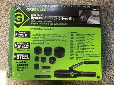 Greenlee Quick Draw Hydraulic Punch Driver Kit 7806SB c-x
