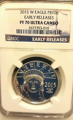 2015W $100 Platinum Eagle Ngc-Pf70Ucam Early Release