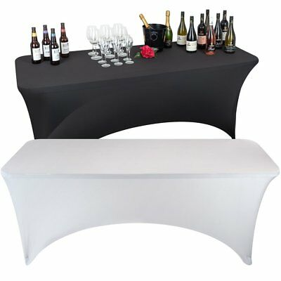 Stretch Tablecloth Rectangular Spandex Table Cover Fit DJ Tradeshows Vendors USA