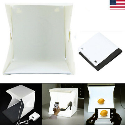 Photo Studio Box Photography Backdrop LED Strip Light Mini Lightroom Portable US