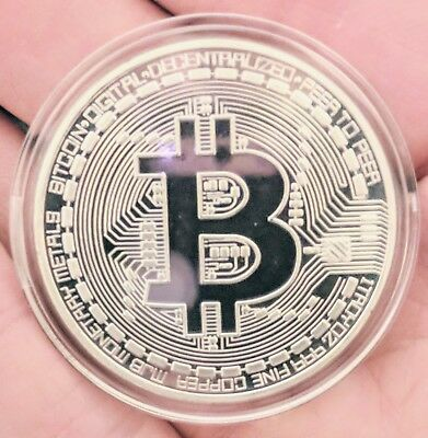 Physical Bitcoin/BTC High-Polished, Silver-Plated In Collector Case