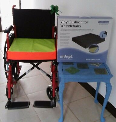 Hi viz yellow Cushion & Cover for Wheelchair (MOBILITY STYLE AND FASHION) SALE