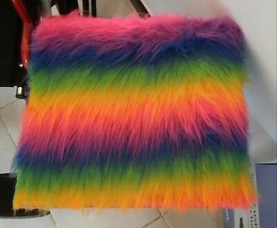 Rainbow fur Cushion & Cover for Wheelchair (MOBILITY STYLE AND FASHION) SALE