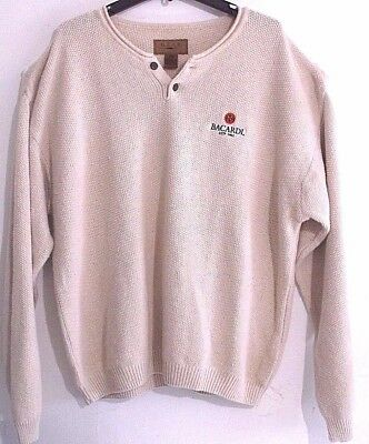 """Gear for Sports"""" Bacardi"""" Sweater Men's Size XXL Pullover Ivory Cotton Blend"""