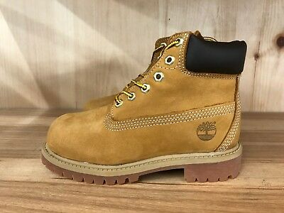 Timberland 6 Inch Premium Boots Wheat Nubuck Youth Ps Sz 13-3   12709