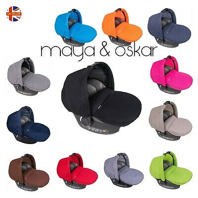Universal Baby Car Seat 2pcSet Footmuff Cosy Toes+Wind Shield Canopy Shade Hood