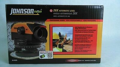 JOHNSON 26X Automatic Level Professional Series 40-6926 Rotary NEW IN OPEN BOX