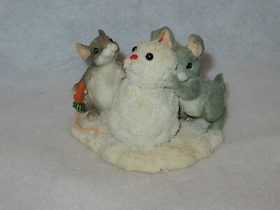 """""""building A Snow Bunny"""" Charming Tails - Fitz Floyd - 87/692 - Mint"""