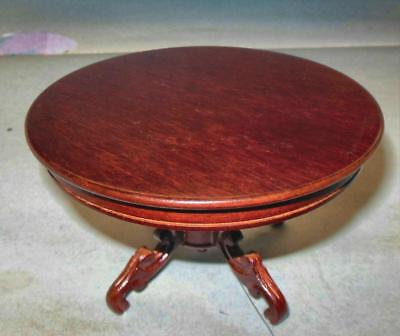 Vintage Victorian Dining Table Mahogany Museum Dollhouse Furniture Miniatures