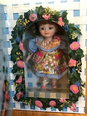 """New Vintage 5"""" Marie Osmond Porcelain Doll -1996 Mother's Day Greeting Card Doll"""