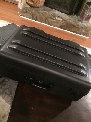 Parker Rigid Plastic Shipping Travel Case w/ Wheels and Handle and Foam Lining
