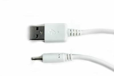 90cm USB White Charger Cable for Hush Whisper Audio Digital MK3255 Baby Monitor