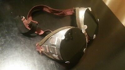 Welding Safety Goggles Steampunk Motorcycle Aviator Flip Up VTG NOS Glasses WWII