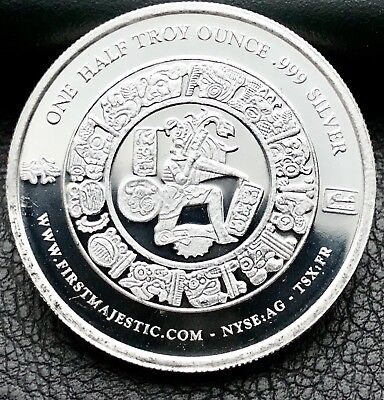 2017 First Majestic Mayan Design 1/2 Troy ounce .999 Fine Silver Coin (4902)