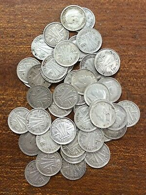 Australia pre 46 three pence bulk lot of 50 - mixed condition ..