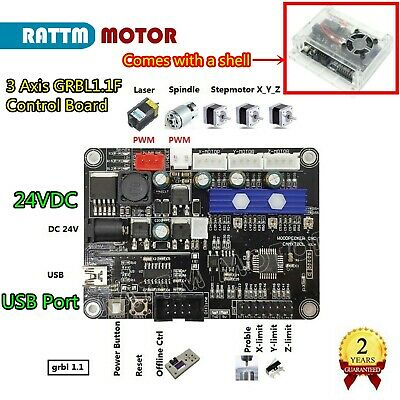 New 3 Axis 1.1 GRBL Control Board USB CNC Milling Laser Machine Controller Card