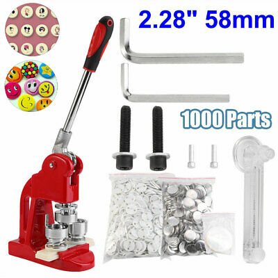 1 IN BUTTON Pin Maker Badge Machine with 1000 Parts and