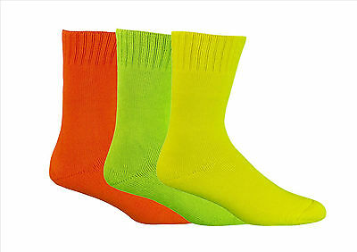 Hi Vis Extra Thick 92% Bamboo Work Socks All Sizes -  Bamboo Textiles