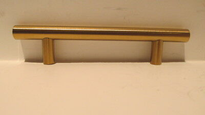 3.75 Center to Center Modern Gold Vibrant Amber Traditional Classic 10 Pack Hamilton Bowes Satin Brass Cabinet Hardware Pull Handle 96mm // 3-3//4