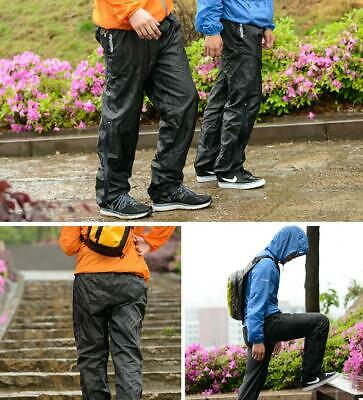 Men Women Waterproof Rain Over Trousers Pants Hiking Fishing Walking Motorcycle