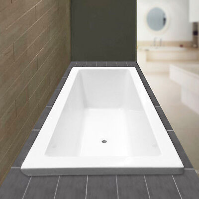 1800x800x510mm Bath tub Drop in Insert White Luxury Acrylic Square New Bathroom