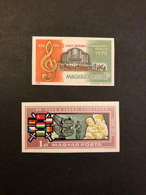 Hungary Scott No. 2385, 2393 MNH Imperforate Imperf Imp Various Stamps of 1975