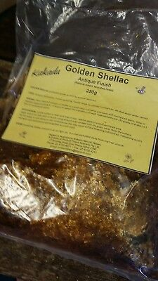 Natural Golden Shellac Flakes 250gram
