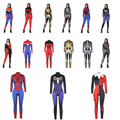 Women Halloween Cosplay Catsuit Costume Jump Suit Zentai Bodycon Fancy Dress